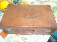 Real Leather Suitcase 1940