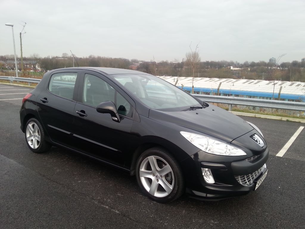 2009 peugeot 308 hdi sport diesel black 6 speed in. Black Bedroom Furniture Sets. Home Design Ideas