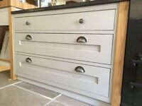 Drawer Unit (Left) - Soft Grey - SOLD AS SEEN