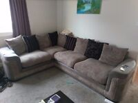 Grey Fabric Corner Couch £350 O.N.O