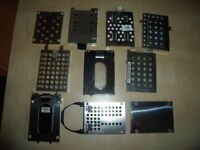 "A selection of 20x 2.5"" laptop hard drive caddies."