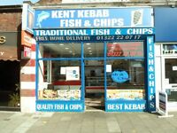 Fish and Chips / Kebab Shop in Dartford Town Centre