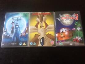 Bundle Of Children's Films, Wile E Coyote, Little Cars 3.