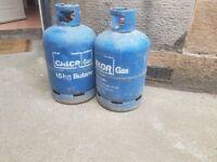 2 CALOR GAS BOTTLES
