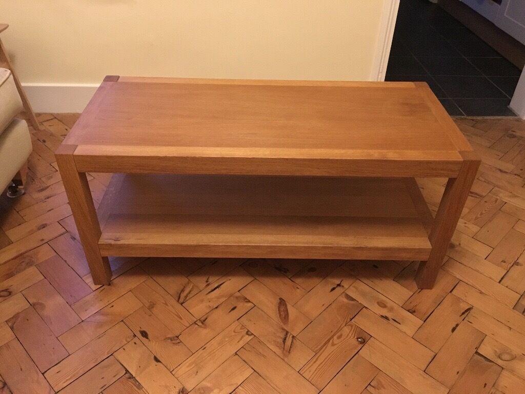 Laura Ashley Brompton Coffee Table With Shelf Solid Oak And Veneer