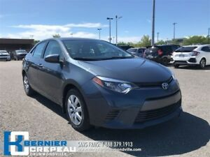 2015 Toyota Corolla LE **CAMERA, BANCS CHAUFFANT, BLUETOOTH**