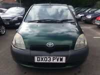 Toyota Yaris 1.0 Petrol 2003 Spares or Repairs Call ‭or text on 07488 587715‬