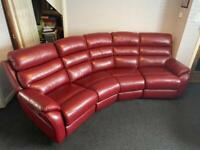 Large Sofology Red Sofa, Chair, Foot Rest