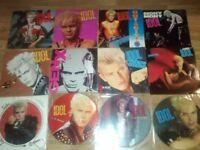"20 x billy idol / generation x vinyls LP's / 12"" / picture discs /7"" singles"