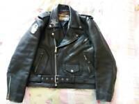 Vintage size 42 leather biker jacket