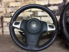 Corsa d steering wheel with airbag complete steering column