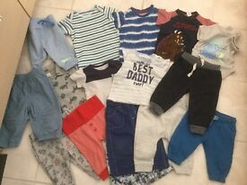 Sixteen Items Clothing For Baby 3 - 6 Months