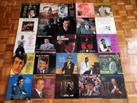 30 Vinyl Records Swing Jazz Pop Frank Sinatra Dean Martin Nat King Cole Music Collection 12 Inch LPs