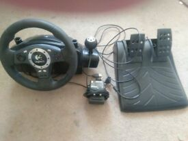 Force Feedback Logitech Driving Force Pro Gaming Steering Wheel