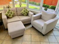 Two seater sofa, Single seater And Stool