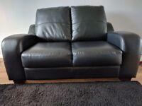leather & leatherette 2 seater Sofa