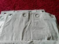 Eyelet Grey Large Curtains