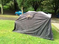 Motorcycle storm protector tent