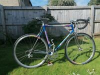 Used retro Compagno road bike frame size 58cm w alloy deep section wheels