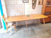 Ercol Vintage Mid Century Extending Table