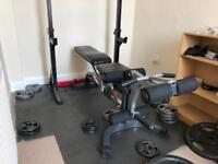 Bodymax Weight Bench, Bars and Plates