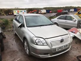 Toyota Avensis 2005 year - Parts Available