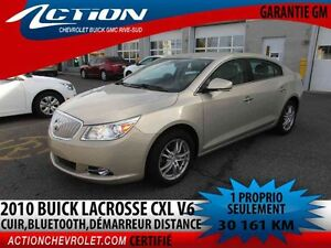 2010 BUICK LACROSSE CXL V6,AUTO,AIR,CUIR,BLUETOOTH