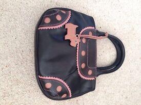 Radley Black/Pink Leather Small Grab Bag