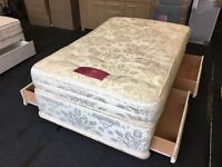 Very clean small double storage divan set (FREE DELIVERY)