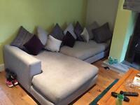 Large Barker and Stone house grey sofa