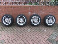 BMW ALLOY WHEELS, OF 3 SERIES TOURING X4 WITH TYRES.