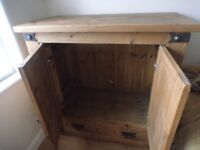 Pine TV cabinet with drawer- Very Good Condition