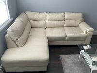 FURNITURE VILLAGE IVORY CREAM CORNER SOFA- IMMACULATE CONDITION-MUST GO TODAY- CHEAP DELIVERY - £595