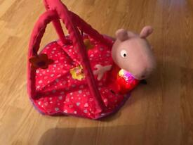 Peppa pig pram set with light up peppa toy.