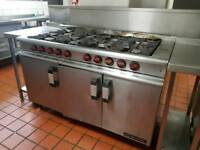Commercial cooker 8 burner with oven