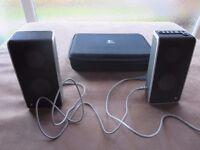 Logitech V20 USB-Powered Notebook Speakers (Grey) S-0155A