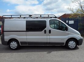 FINANCE ME!! NO VAT!! Renault trafic crew van 2.0l tdi lwb with only 81k from new!!