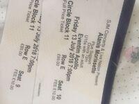 2 x Alanis Morissette Tickets - Eventim Apollo London