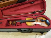 Violin 1/4 Sandner and case, hardly used