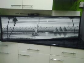 Black and white long canvas picture