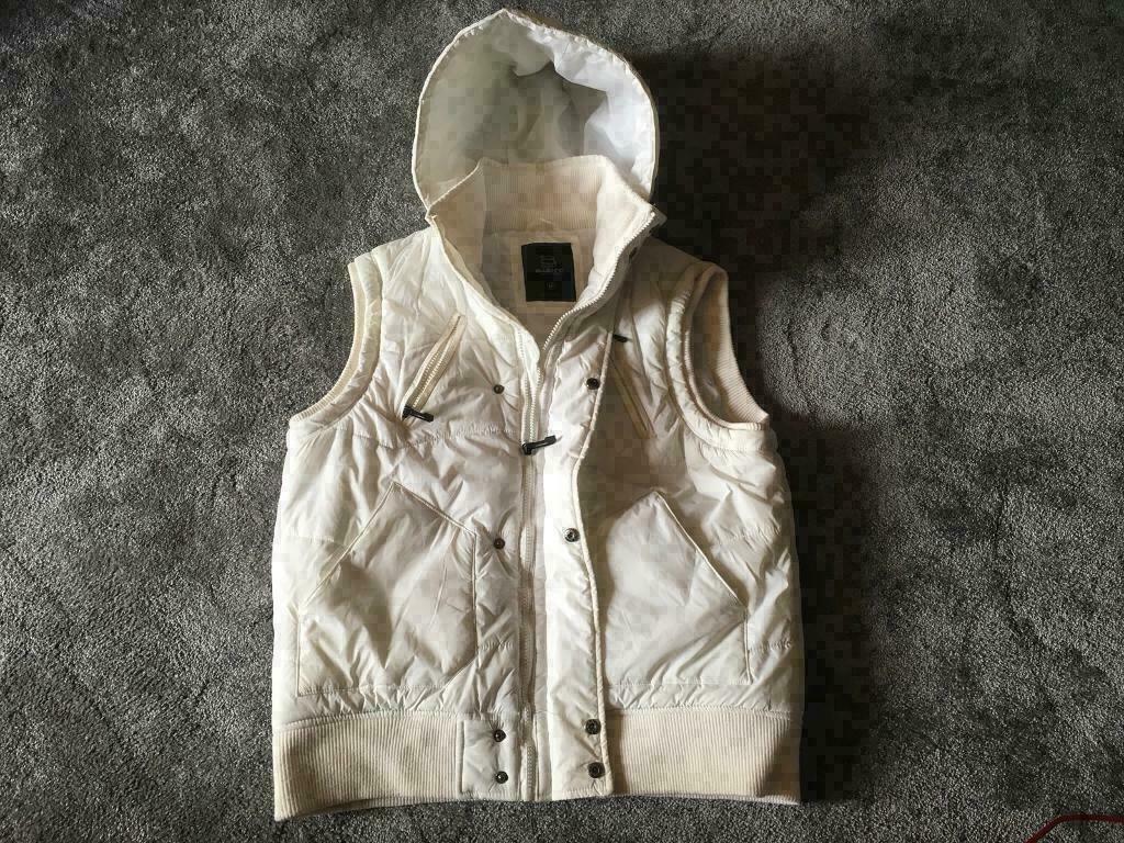 404097c2feca Blue inc men s vest jacket bodywarm padded hoody full zipper size M used £6