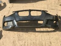 BMW 1 SERIES F20/21 M SPORT FRONT BUMPER SKIN IN BLACK