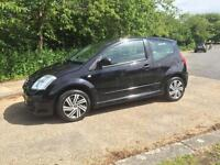 CITROEN C2 1.4 VTR 1 OWNER IN STUNNING BLACK ONLY DONE 69K .1 YEARS MOT
