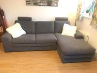 Helvetia Corner sofa bed Aqua Clean Carabu