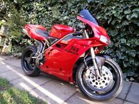 ducati 748 biposta/monoposta/termi exhaust/1996/very good condition