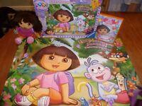 Dora The Explorer soft doll, 24 piece floor jigsaw & Big Birthday Adventure DVD