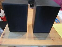 Linn KAN MKI Pair in Black Chartwell Cabinets SUPERB AUDIO Steel Wall Brackets