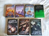 7 Fantasy Books - Raven Chronicles & Raven Legends Series by James Barclay
