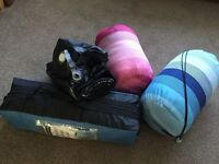 Camping gear - Tent, Sleeping Bags and Inflatable Bed. Great for festivals