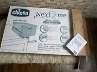 Chicco Next 2 me bedside crib - excellent condition and brand new mattress